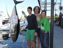 ?Fishing on Camelot with Capt. Molly Palmer, Lucas Ruiz and his family boated a 141-pound? ahi to top the Big-Fish List tuna slot.  Photo courtesy of The Charter Desk.