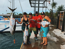 Team Li'l Alexii  caught three yellowfins to win the ahi division of Kona's annual New Year's Day tournament. Photo courtesy of The Charter Desk.