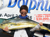 In 2016, St. Thomas junior angler, Robbie Richards, fishing aboard his father Capt. Rob Richards 40' Luhrs Express, Mixed Bag II, caught the largest dolphin, a 29.4-pounder.