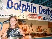 Angela Berry scores Top Angler and Top Female Angler at Dolphin Derby. Credit: Dean Barnes