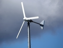 Jennette's Pier features three wind turbines.